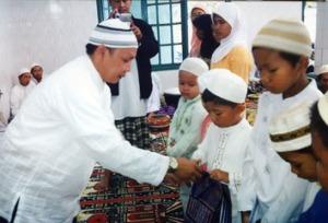 Kegiatan Sosial(Pemberian Santunan Anak yatim oleh Paka Lurah Bpk H. Kadarusman Sutama, SE.)